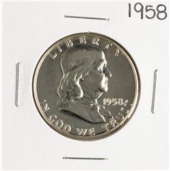1958 Proof Franklin Half Dollar Coin