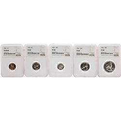 1961 (5) Coin Proof Set NGC PF68