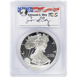 1998-P $1 Proof American Silver Eagle Coin PCGS PR69DCAM Moy Signature