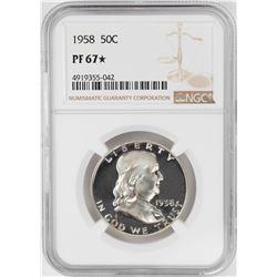 1958 Proof Franklin Half Dollar Coin NGC PF67 STAR
