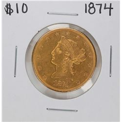 1874 $10 Liberty Head Eagle Gold Coin