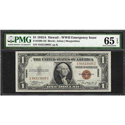 1935A $1 Hawaii Silver Certificate WWII Emergency Note PMG Gem Uncirculated 65EPQ