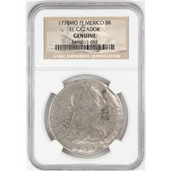 1778MO FF Mexico 8 Reales El Cazador Shipwreck Coin NGC Genuine