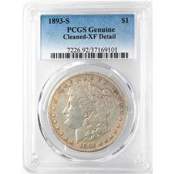 1893-S $1 Morgan Silver Dollar Coin PCGS XF Details