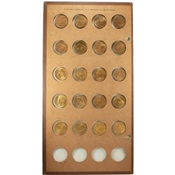 Lot of (20) Different $10 Indian Head Eagle Gold Coins in Wayte Raymond Holder