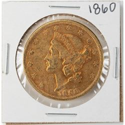 1860 $20 Liberty Head Double Eagle Gold Coin