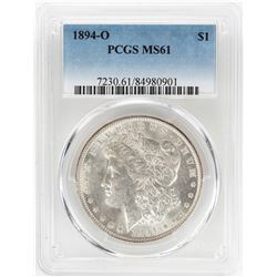 1894-O $1 Morgan Silver Dollar Coin PCGS MS61