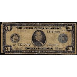 1914 $20 Federal Reserve Note Richmond