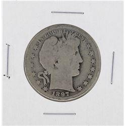 1897-S Barber Half Dollar Silver Coin