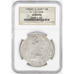 1783MO FF Mexico 8 Reales El Cazador Shipwreck Coin NGC Genuine