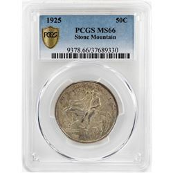 1925 Stone Mountain Memorial Commemorative Half Dollar Coin PCGS MS66