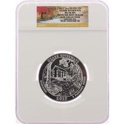 2017 Ozark Riverways ATB 5oz Silver Quarter Coin NGC MS68 DPL from Mint Sealed