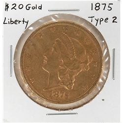 1875 $20 Liberty Head Double Eagle Gold Coin