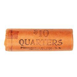 Original Bank Roll of (40) Brilliant Uncirculated 1964 Washington Quarter Coins