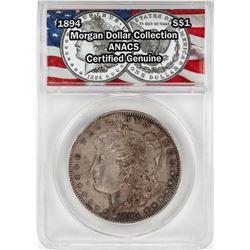 1894 $1 Morgan Silver Dollar Coin ANACS Certified Genuine