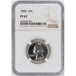 1960 Proof Washington Quarter Coin NGC PF67