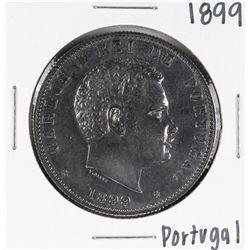1899 Portugal 1000 Reis Silver Coin