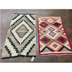 Two Vintage Navajo Textiles