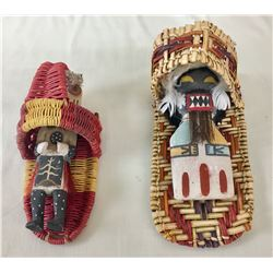 Two Unique Hopi Dolls with Cradles