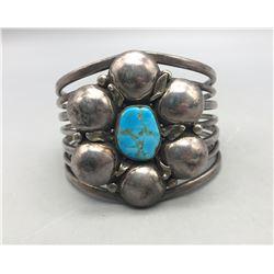 Unique Turquoise 'Flower' Cuff Bracelet