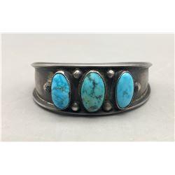 Mid-Century Turquoise Cuff Bracelet