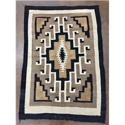 Two Grey Hills Navajo Textile