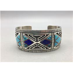 Navajo Inlay Cuff Bracelet