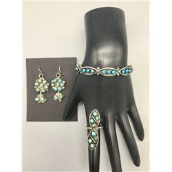 Vintage Bracelet, Ring, Earring Set