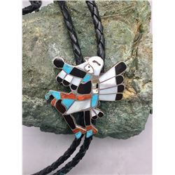 Vintage Zuni Inlay Bolo from Jewel Box Collection