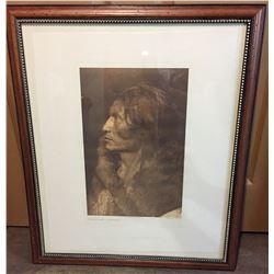 Framed Edward Curtis Print