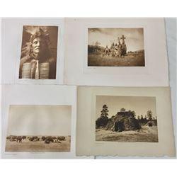Four Edward Curtis Prints