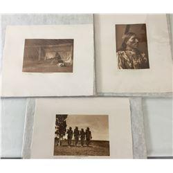 Three Edward Curtis Prints