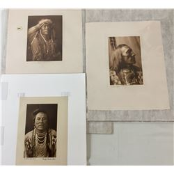 Two Edward Curtis Prints and One Print by Rodman Wanamaker
