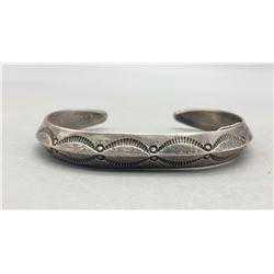 Nice Coin Silver Ingot Bracelet - Old School Style