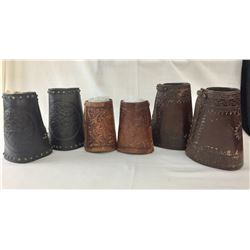 Three Pair of Leather Cowboy Wrist Cuffs