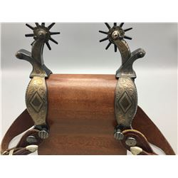 Nice Pair of Contemporary Silver Mounted Spurs