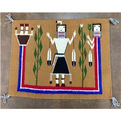 Rainbow Yei Navajo Textile