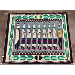 Vintage Pictorial Navajo Textile