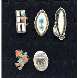 Five Vintage Rings