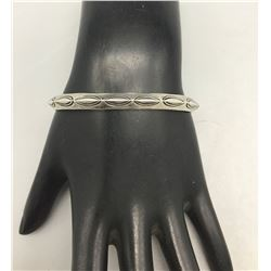 Vintage Sterling Silver Triangle Wire Bracelet