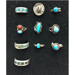 Group of 10 Vintage Rings