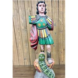 Large Folk Art Santo