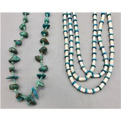 Two Turquoise and Heishi Necklaces