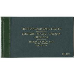 Perkins Bacon LTD, 1966 Specimen Standard Bank Limited Check Sample Book for African Countries.