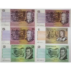 Reserve Bank of Australia. 1974-1985. Lot of 6 Issued Notes.