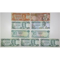 Central Bank of the Bahamas. 1974-2007. Lot of 9 Issued Notes.