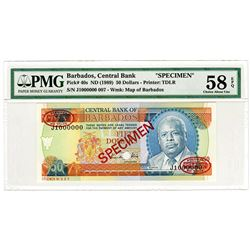Central Bank of Barbados. ND (1989). Specimen Banknote.