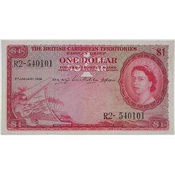 British Caribbean Territories Currency Board. 1956. Issued Note.