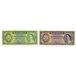 Government of British Honduras, 1971 Banknote Pair.