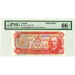 Bank of Canada. 1975. Specimen Banknote.